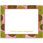 invitations blank cards thank you cards pink chrysanthemum flurry