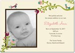 girl photo birth annoucement garden embroidery