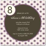 birthday party invitations abundant asters