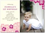 birthday party invitations wood block flowers